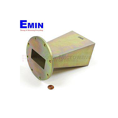Fairview  SH1284-10 WR-284 Standard Waveguide Horn With UG-584/U Round Cover Flange and 10 dB Nominal Gain Operating From 2.6 GHz to 3.95 GHz Frequency Range