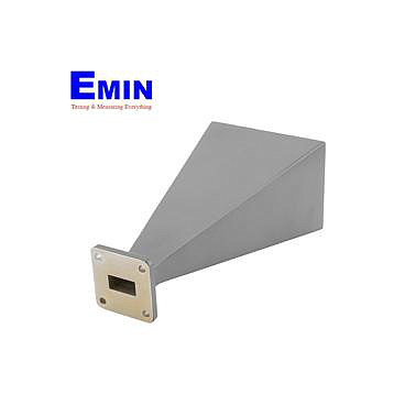 Fairview SH162-20 WR-62 Standard Waveguide Horn With Square Cover Flange and 20 dBi Nominal Gain Operating From 12.4 GHz to 18 GHz Frequency Range