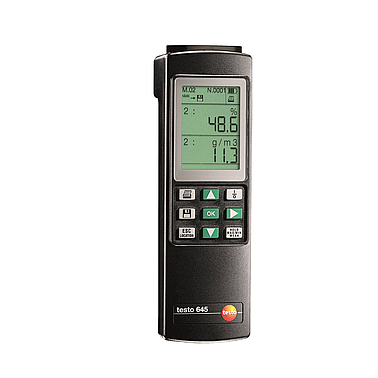Temperature and humidity measuring device Testo 645 (Including the measuring head 0636 9741)
