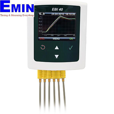 EBRO EBI 40 TC-01 (1340-6400) Multi-Channel Temperature Data Logger (±0.5 °C; -200 °C...+1200 °C)