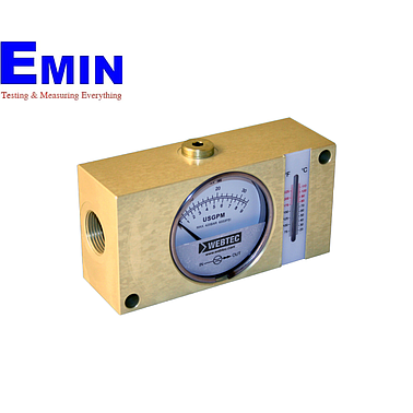 Webtec FI750-60BNWT Hydraulic Brass In-line Flow Indicator (Water:8 US gpm; Oil:16 US gpm; 6000 psi; with temp.)